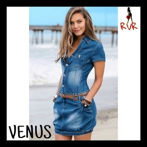 NEW VENUS JEAN SHIRT DRESS